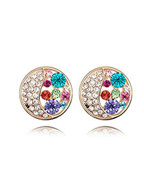 Pewter Multicolour Earrings Alloy Crystal Earrings