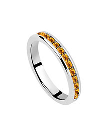 Renaissanc Yellow Rings Alloy Crystal Rings