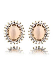 22K White Earrings Alloy Crystal Earrings