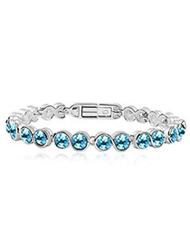 Decorative sea blue Blue Bracelet Alloy Crystal Bracelets