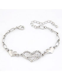 Sling Silver Color Heart