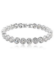 Elephant White Bracelet Alloy Crystal Bracelets