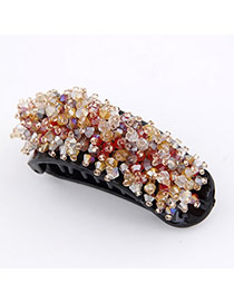 Limited Red Elegant Fashion Decorated With Cz Diamond Resin Hair clip hair claw