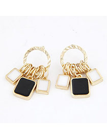 Maternity Black White And Black Terse Alloy Stud Earrings