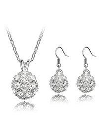 Military White Set-Delicately Prettyr Alloy Crystal Sets