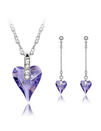 Heavy pale pinkish purple Set-Well Content Alloy Crystal Sets