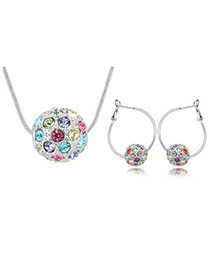Dash Multicolour Set-Colorful Ball Alloy Crystal Sets