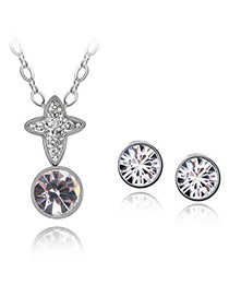 Girls White Set-Transient Dream Alloy Crystal Sets