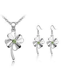 Japanese Olive Set-Happiness Clover Alloy Crystal Sets