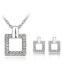 Mysterious White Set-Square Alloy Crystal Sets
