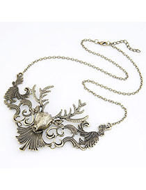 Flip Antique Silver Moose Design