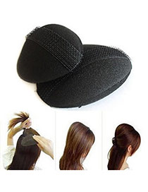 Fantastic Black Sponge Hair Rise Tools Sponge Hair band hair hoop