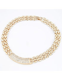 Goth Gold Color Simple Chain