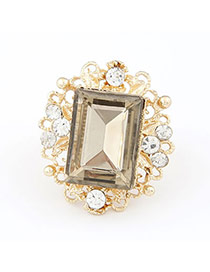 Coast Gold Color Gemstone Alloy Korean Rings