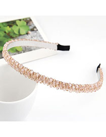 Stretch Pink Handmade Weave Alloy Hair band hair hoop