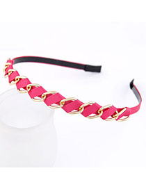 Tanzanite Plum Red Weave Design Alloy Hair band hair hoop