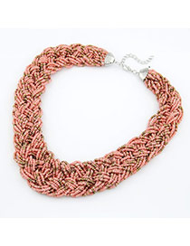 Micro Multicolour Handmade Bead Alloy Bib Necklaces