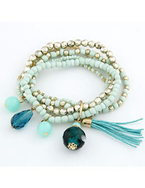 Designer Green Ball Pendant Bead Korean Fashion Bracelet