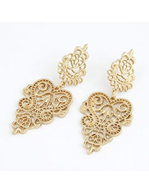 Carters Gold Color Hollow Out Magic Lamp Design Alloy Stud Earrings