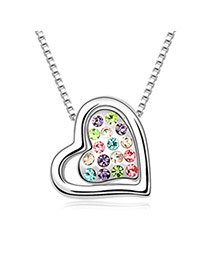 Famale Colours The Way That We Belong Alloy Czech Diamond Crystal Necklaces