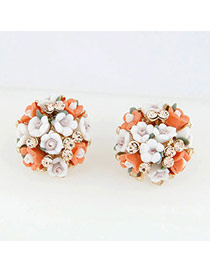 Square Orange Blink Flowers Ol Design