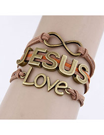 Juniors Brown Love Jesus Design