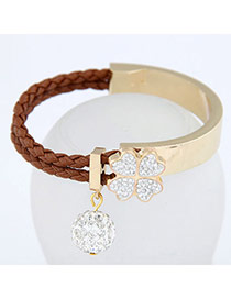 Art Brown Simple Blink Ball Design Alloy Korean Fashion Bracelet