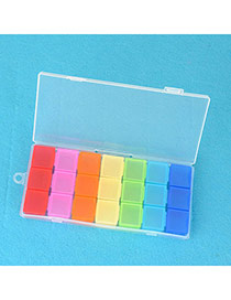 24K Multicolor 21 Grids Rainbow Design PP Household goods