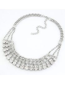 Outdoor Silver Color Decorated With Cz Diamond Design Alloy Chains