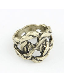 Old Bronze Vintage Weave Design Alloy Korean Rings