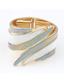 Religious Mix Color Angle Wing Shape Design Alloy Fashion Bangles