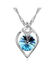 Waxing Sea Blue Moments Of Tender Love And Dream Theme Austrian Crystal Crystal Necklaces