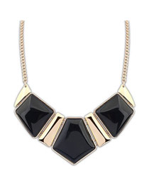 Fit Black Elegant Geometric Square Shape