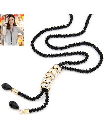 Evil White Shining Lucky Beads Design Alloy Bib Necklaces
