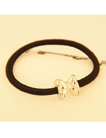 Layered Gold Color Classics Cartoon Bowknot Design Alloy Hair band hair hoop