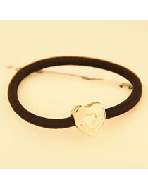 Old Gold Color Classics Cartoon Love Design Alloy Hair band hair hoop
