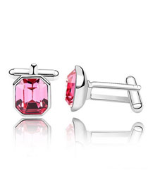 Maternity Plum Red Simple Octagon Shape Design Austrian Crystal Crystal Brooches