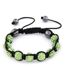 Patagonia Green Handmade Weave Ball Design Alloy Korean Fashion Bracelet