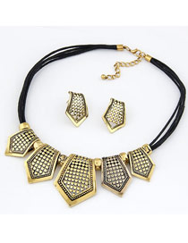 Modest Gold Color Vintage Hollow Style Alloy Jewelry Sets
