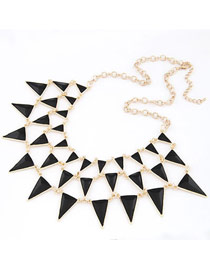 Postal Black Elegant Triangle Shape