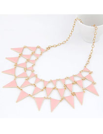 Fantastic Pink Elegant Triangle Shape