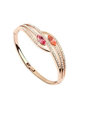 Hemp Picture Color Elegant Double Gemstone Design Austrian Crystal Crystal Bracelets