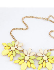 Satchel Yellow Simple Flowers Design Alloy Korean Necklaces