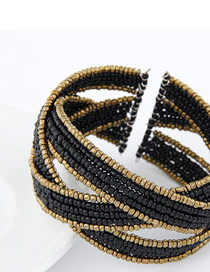 Charming Black Handmade Beads Design Alloy Fashion Bangles