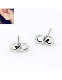Celebrity Antique Vintage 8 Shape Alloy Stud Earrings