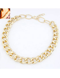 Fingerprin Gold Color Simple Chain Design Alloy Chains