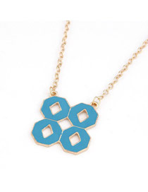 Woolrich Blue Double 8 Shape Pendant Design Alloy Chains