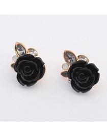 Adjustable Black Rose Shape Design