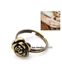 Fall Bronze Flower Alloy Korean Rings