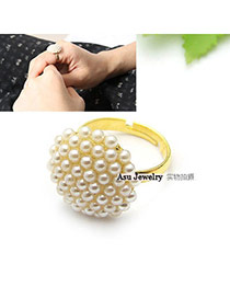 Christenin white Elegant Design alloy Korean Rings